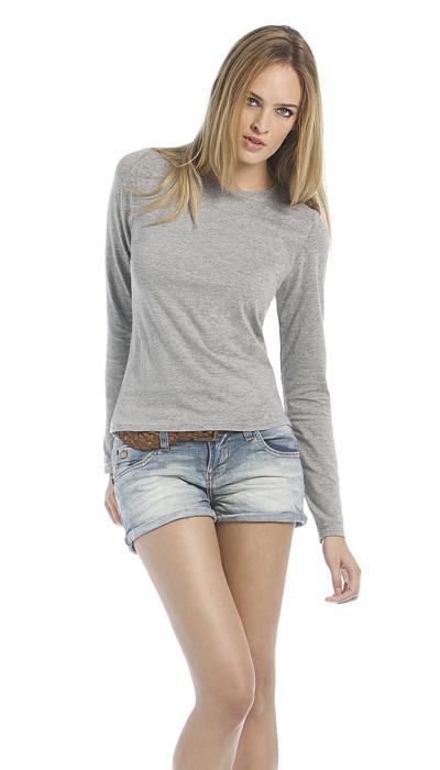 B&C Women Only Longsleeves T-shirt met lange mouwen