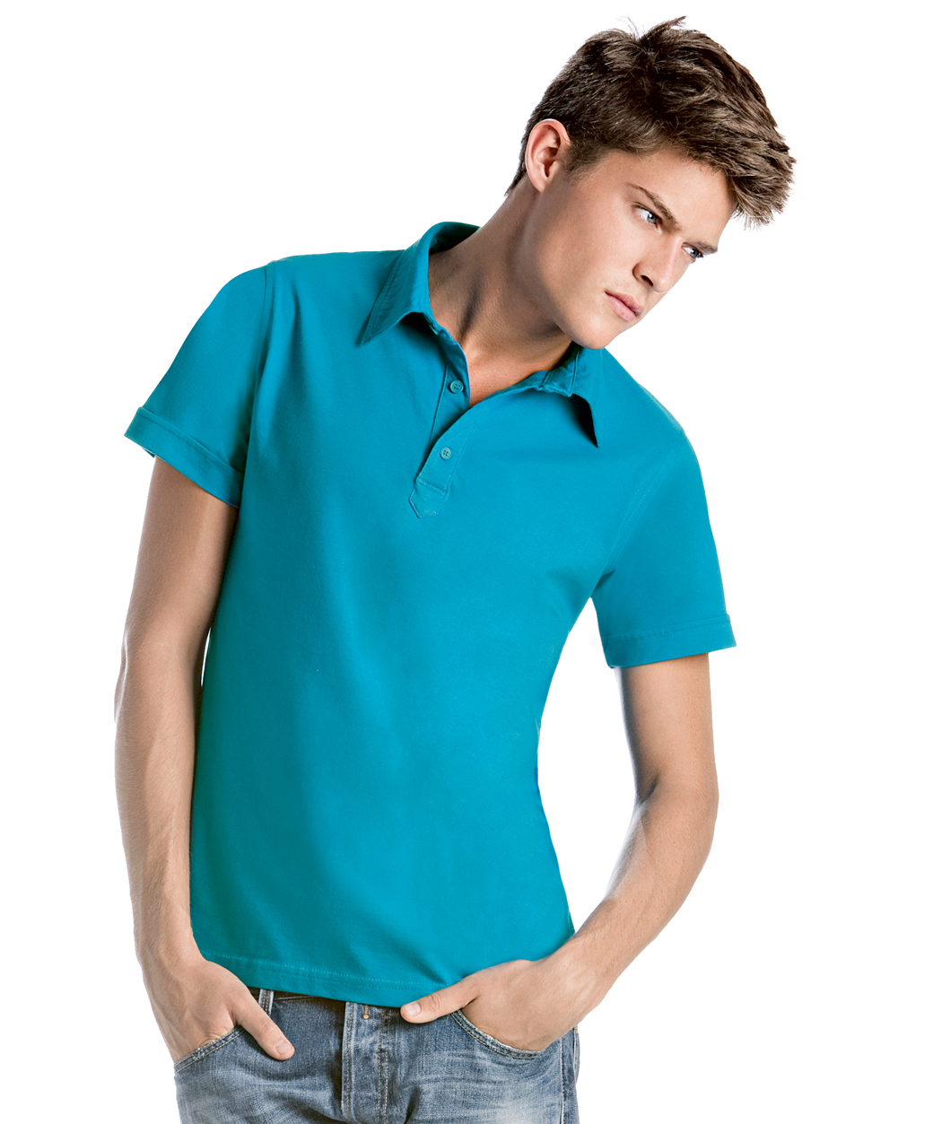 B&C Cinnamon Heren Polo