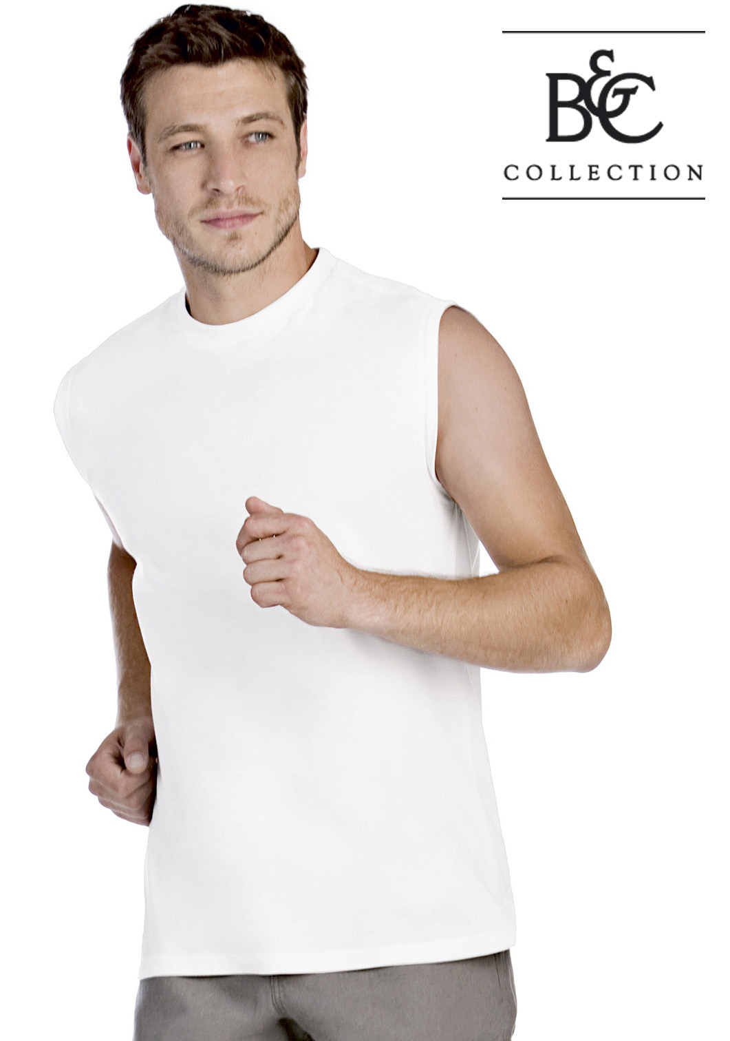 B&C Exact Move Mouwloos T-shirt