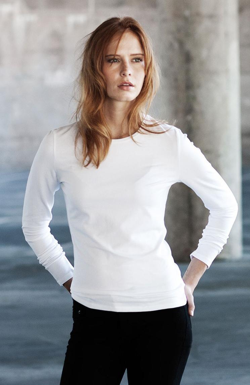 Kariban Carla Dames T-shirt met ronde hals en lange mouwen
