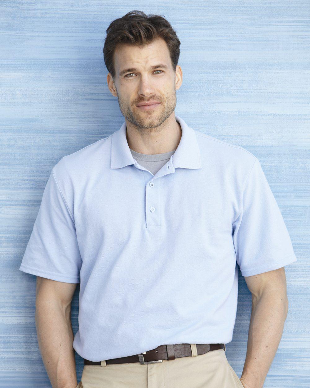 Gildan Mens DryBlend Pique Polo Shirt