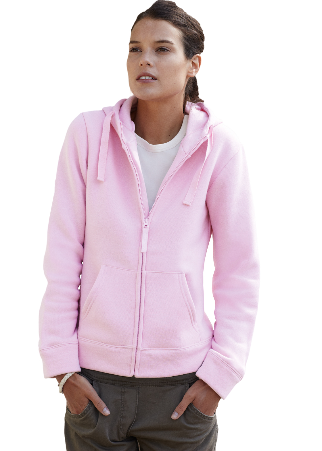 Fruit of the Loom Lady Fit Hooded Jacket