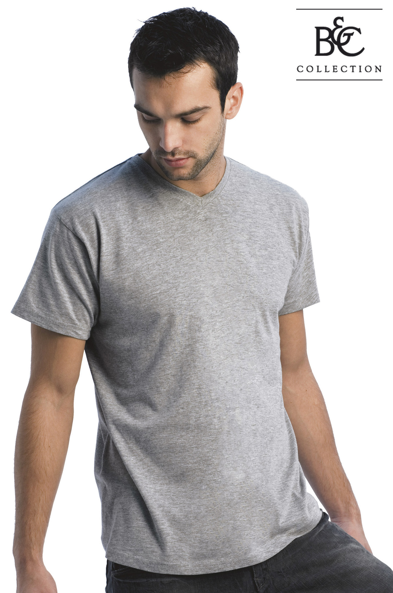 B&C Exact Unisex V-neck T-shirt