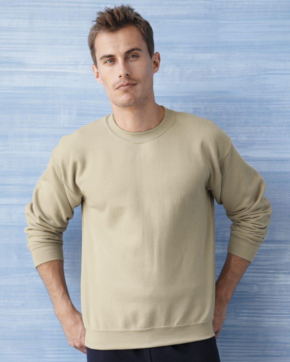 Gildan Heavy Blend Crew Neck Sweatshirt met rechte mouwen