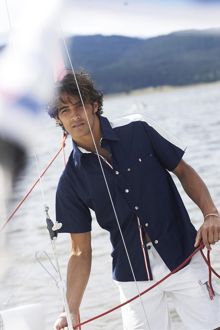 Kariban Sailing shirt short sleeve