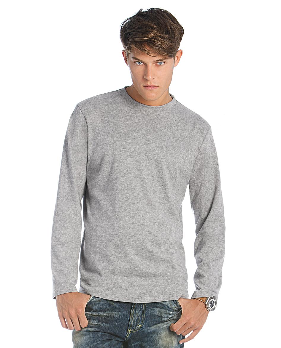 B&C Exact 190 T-shirt met lange mouwen