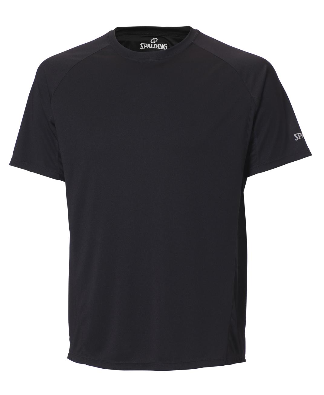Spalding Heren Essential sport T-shirt Zwart