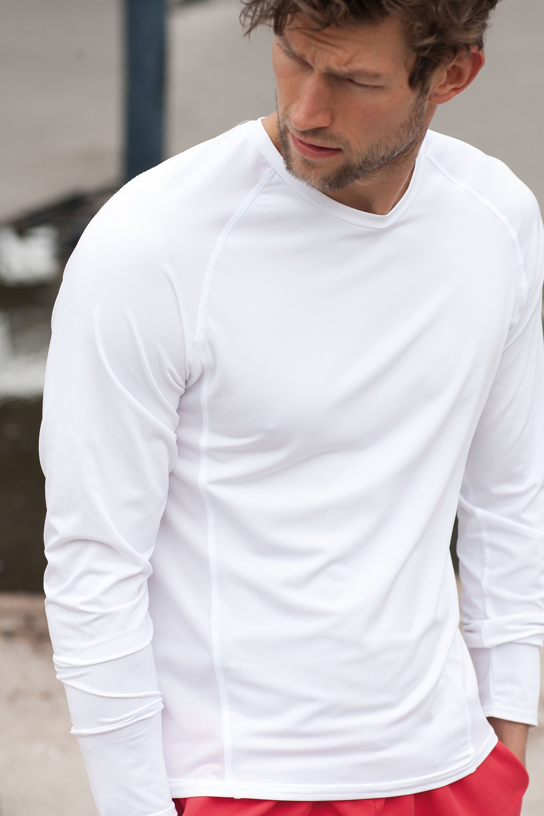 Kariban T-shirt met lange mouwen in dubbele