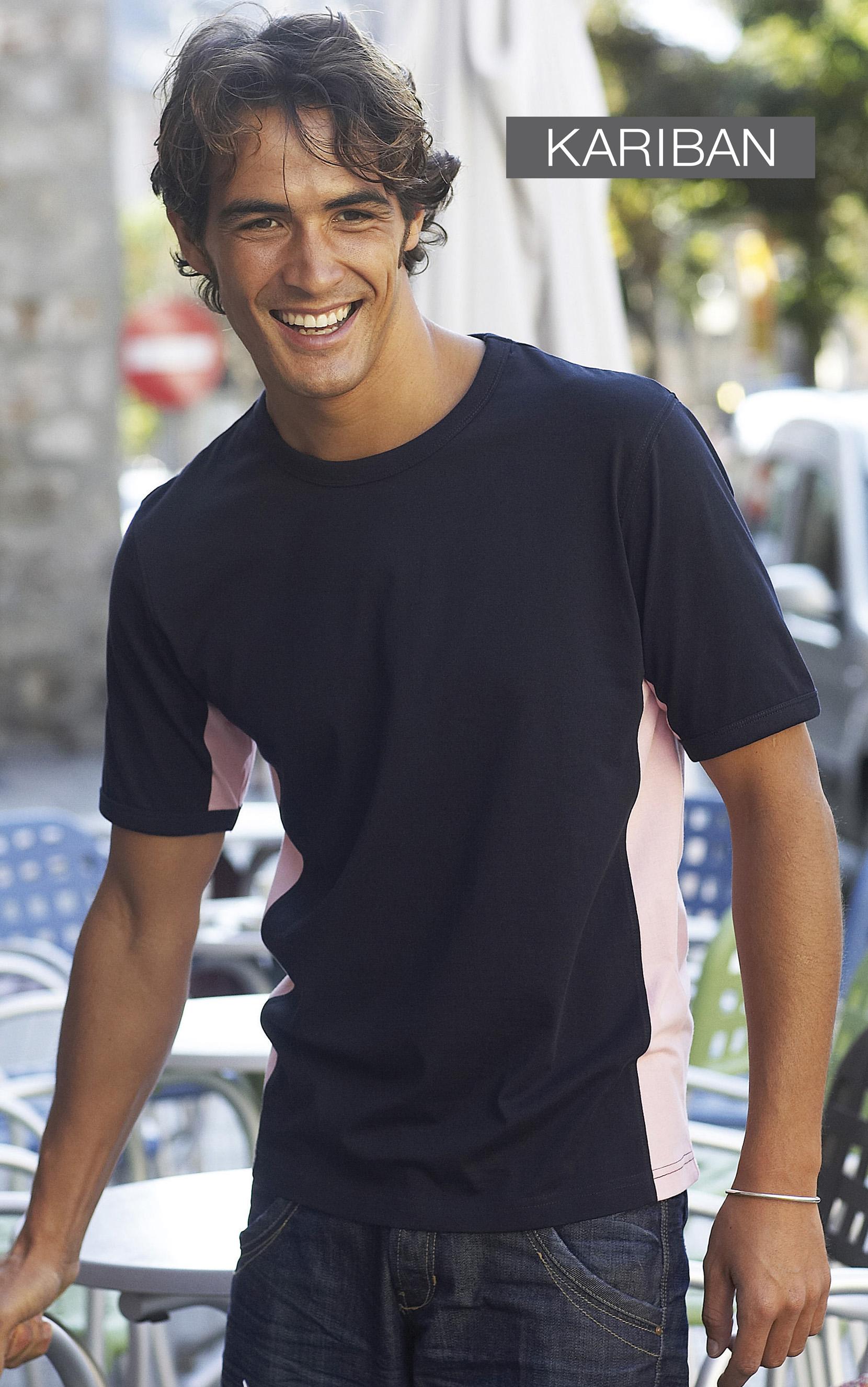 Tweekleurig T-shirt met korte mouwen