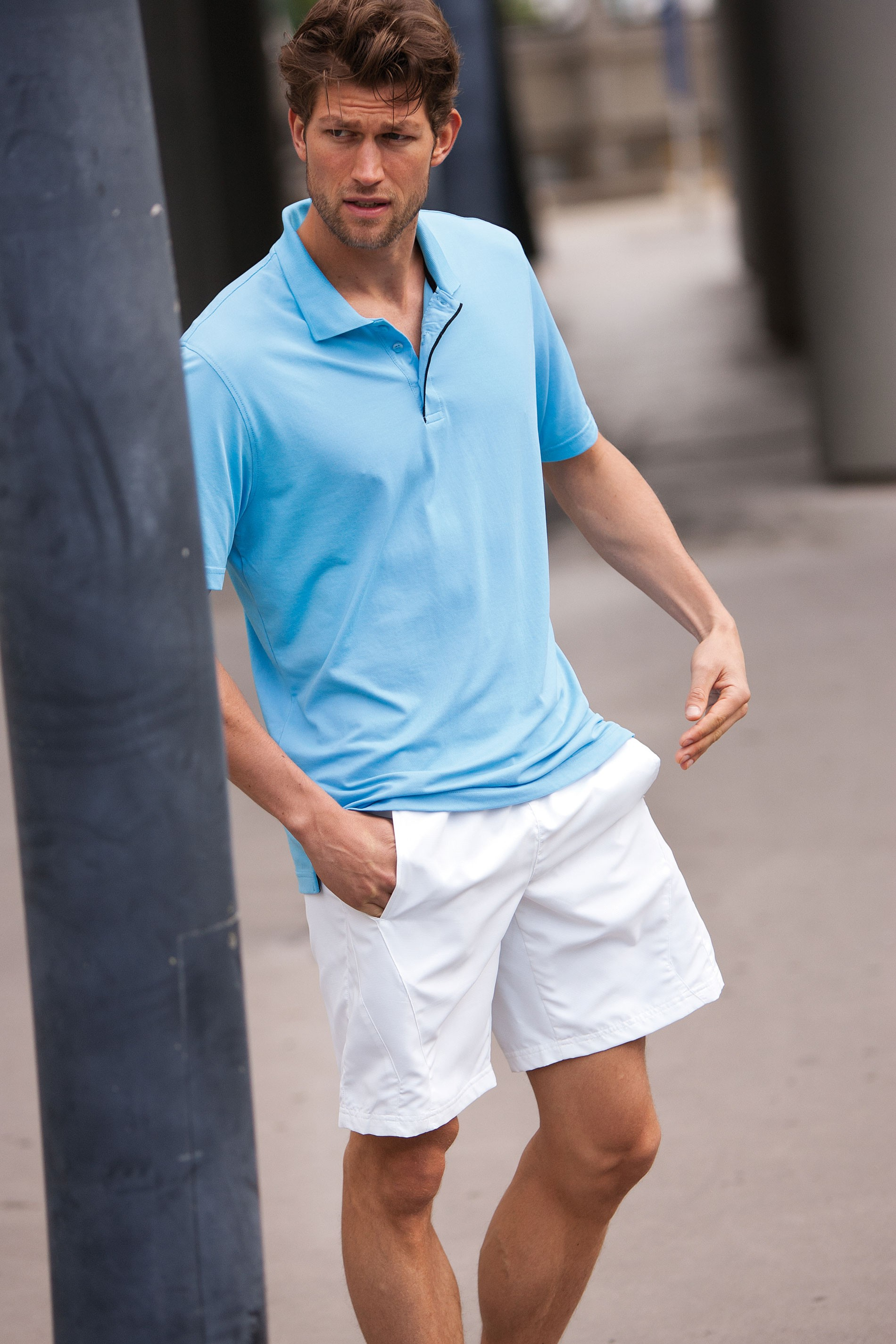Kariban Heren Polo in Lycra Pique