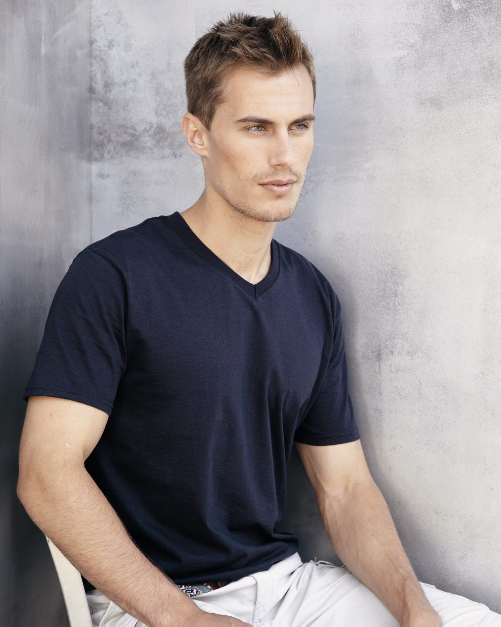 Gildan SoftStyle V-neck T-shirt for him