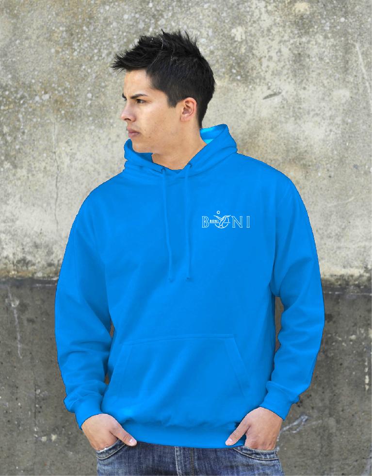 College hoodie met logo op 2 zijden