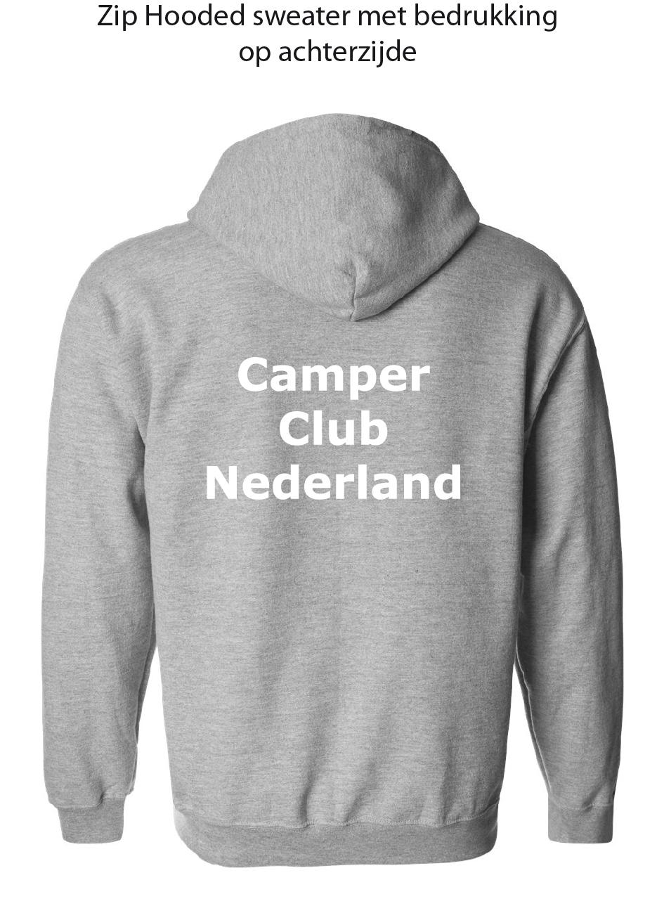 Zip Hooded Sweater met bedrukking achterzijde