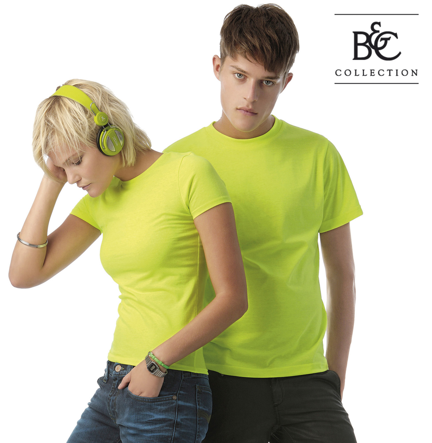 Fluor dames en heren T-shirt