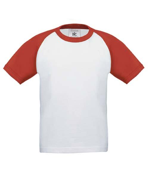 B&C Baseball Kids White-Red