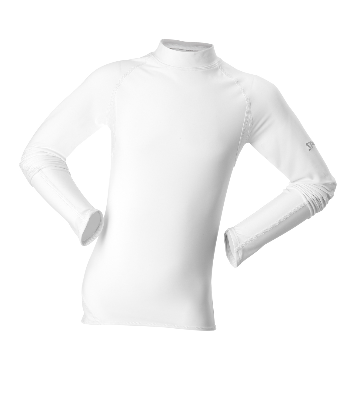 Spalding Kids Base layer long sleeve Wit